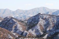 stor vänster snowvägg Royaltyfri Bild