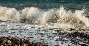 Stor våg på kusten av Blacket Sea Arkivbild
