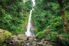 Stor vattenfall på ön av Bali Royaltyfria Bilder