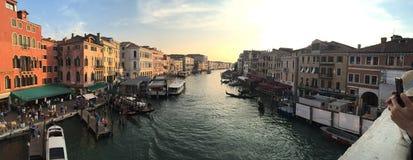 Stor Venecia Venedig kanal Royaltyfri Fotografi