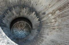 Stor vetenskap, avgasrör för Redstone raketstråle Arkivfoto