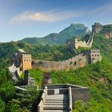 Stor vägg av Kina i sommar Arkivfoto