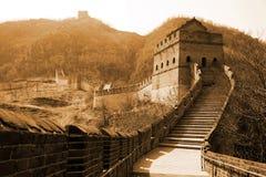 stor vägg för forntida porslin Arkivbild