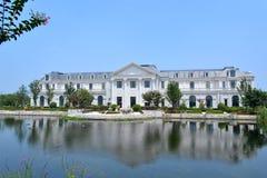 Stor villa Arkivfoto