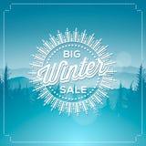 Stor vinterförsäljningsaffisch Royaltyfria Bilder