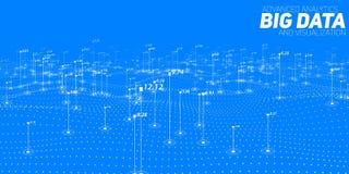 Stor visualization för datablåtttäppa Futuristiskt infographic Estetisk design för information Visuell datakomplexitet Royaltyfri Fotografi