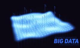 Stor visualization för datablåtttäppa Futuristiskt infographic Estetisk design för information Visuell datakomplexitet Arkivbilder