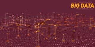 Stor visualization för databrunttäppa Futuristiskt infographic Estetisk design för information Visuell datakomplexitet Arkivfoto