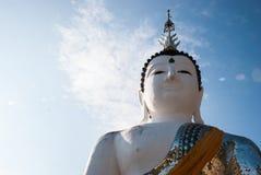 Stor vit buddha bild Royaltyfri Foto