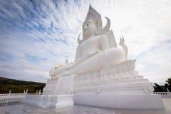 Stor vit buddha staty Royaltyfri Bild