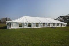 Stor vit för tält Fotografering för Bildbyråer