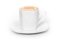Stor vit kopp av cappuccino Arkivbilder