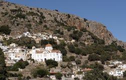Stor vit målade kyrkan i Kreta, Grekland Arkivbilder