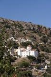 Stor vit målade kyrkan i Kreta, Grekland Arkivbild