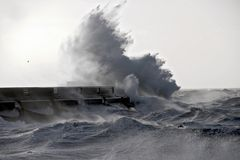 stor wave Royaltyfri Fotografi