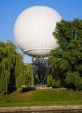 stor white för baloon Arkivfoto