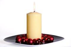 stor white för burning stearinljus Royaltyfria Foton