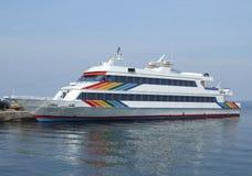 stor yacht Royaltyfria Bilder