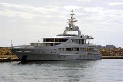 stor yacht Royaltyfria Foton