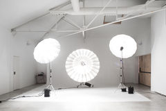 Stor yrkesmässig fotostudio Fotografering för Bildbyråer
