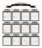 Stor yrkesmässig kalender för affär 2014 Fotografering för Bildbyråer