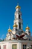 Stor Zlatoust kyrka eller Maximilian kyrka i Yekaterinburg, Ryssland Fotografering för Bildbyråer