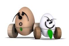 Stora ägg och liten No.2 Arkivfoton
