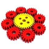 stora åtta gear lilla kugghjul ett Arkivfoto