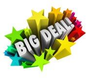 Stora överenskommelsen uttrycker viktig nyheterna Sale för stjärnafyrverkerier Arkivfoto