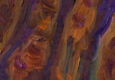 Stora överlappande penseldrag av textur för olje- målning Fotografering för Bildbyråer