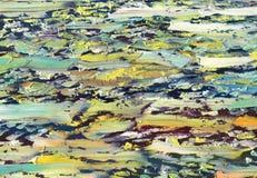 Stora överlappande penseldrag av textur för olje- målning Arkivbilder