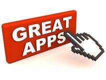 Stora apps vektor illustrationer