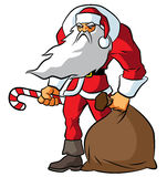 Stora badass Santa Claus Royaltyfri Bild