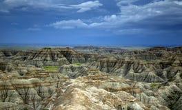Stora Badlands förbiser, Badlandsnationalparken i South Dakota royaltyfri fotografi