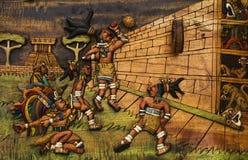 Stora Ballcourt på Chichen Itza Royaltyfria Bilder