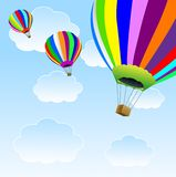 Stora ballonger i blå himmel Royaltyfri Fotografi