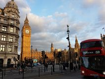 Stora ben av London med ett solsken royaltyfri foto