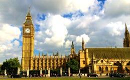 Stora Ben Houses av parlamentet London Arkivbilder