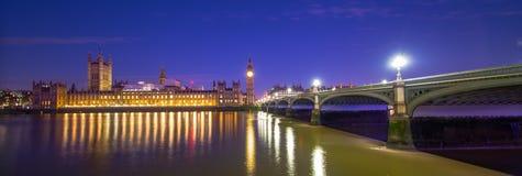 Stora Ben London på natten Royaltyfri Foto