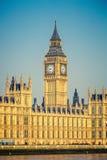 Stora Ben och hus av parlamentet, London Arkivfoto