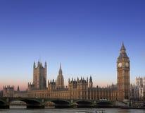 Stora Ben och hus av parlamentet, London Arkivbilder