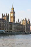 Stora ben och Westminster Abby, London Arkivbild