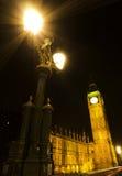 Stora Ben på natten Arkivbild