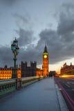 Stora Ben på natten, London Royaltyfri Foto