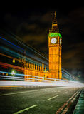 Stora Ben på natten, London Fotografering för Bildbyråer