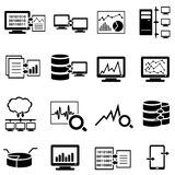 Stora beräknande rengöringsduksymboler för data, för dator och för moln Royaltyfri Bild