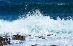 Stora blåsiga vågor Royaltyfria Foton