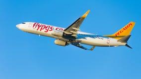 Stora Boeing 737-86N (W) Pegasus Airlines Royaltyfri Foto