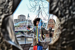 Stora bubblor i London Arkivbilder