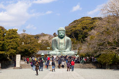 Stora buddha (Daibutsu) Arkivbilder